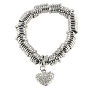 Florence heart crystal bracelet