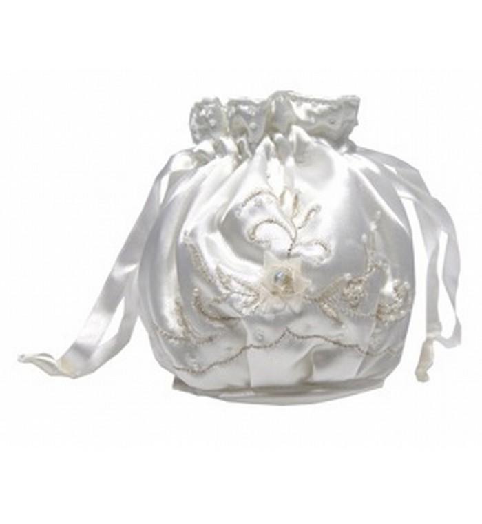 Alphia embroidery dolly bag