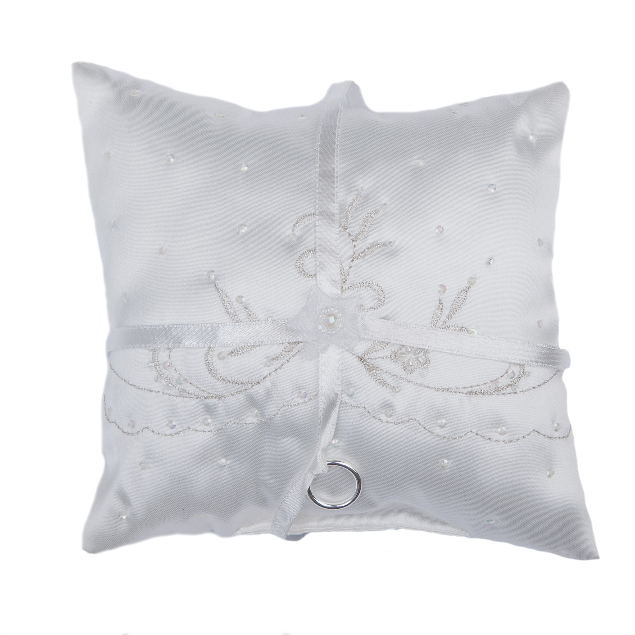 Lily embellished ring cushion