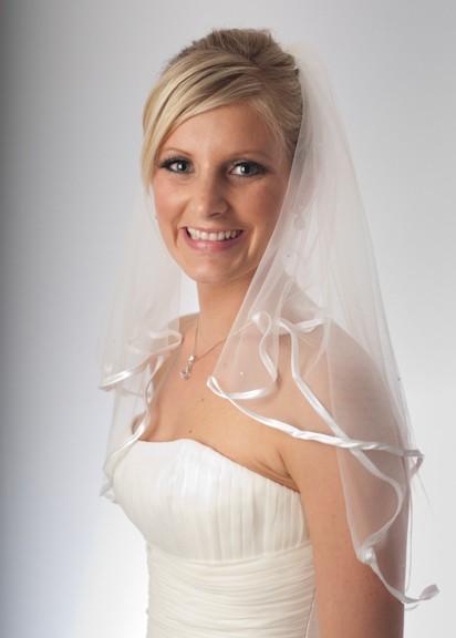 Alexandra crystal elbow length veil