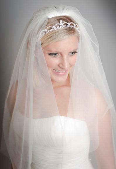 Sofiya crystal elbow length veil