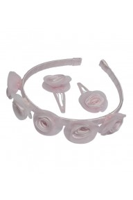 Lexie pink flower hair set