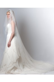 Sofiya crystal cathedral length veil