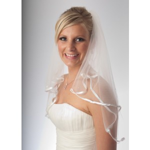 Alexandra crystal elbow length veil