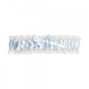 Tilly Blue Satin Garter