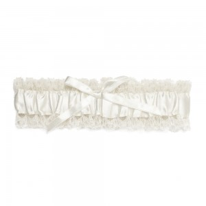 Tilly Ivory Satin Garter