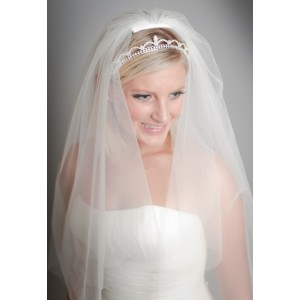 Sofiya crystal elbow length veil