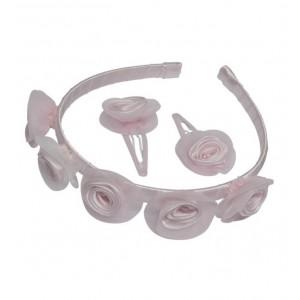 Lexie pink flower hair set